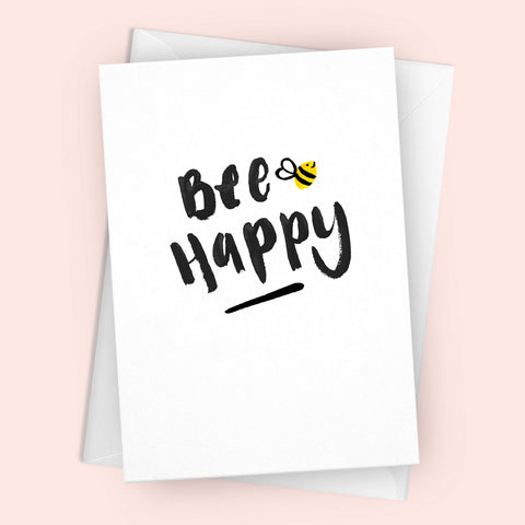 'Bee Happy' Greetings Card