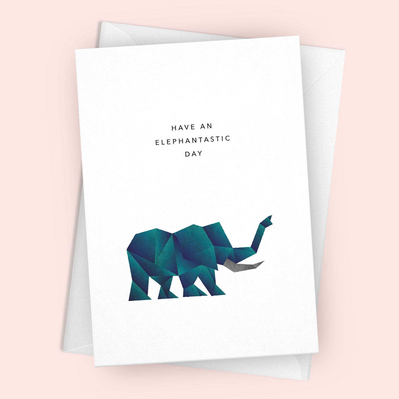 'Elephantastic Day' Greetings Card