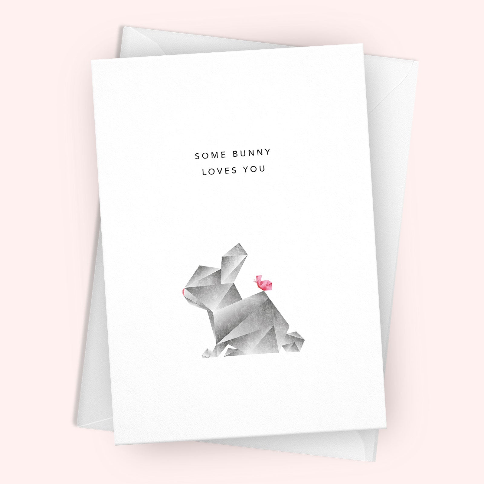 'Some Bunny Loves You' Greetings Card