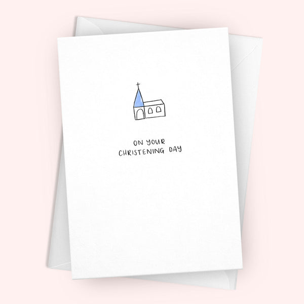 'On Your Christening Day' Greetings Card