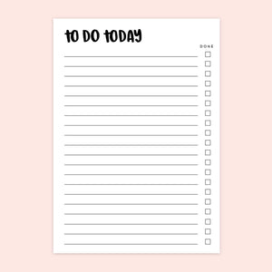 A6 To-Do List Desk Pad