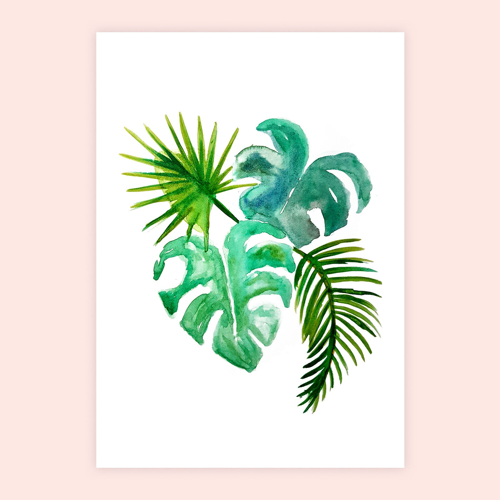 Leafy Watercolour Print