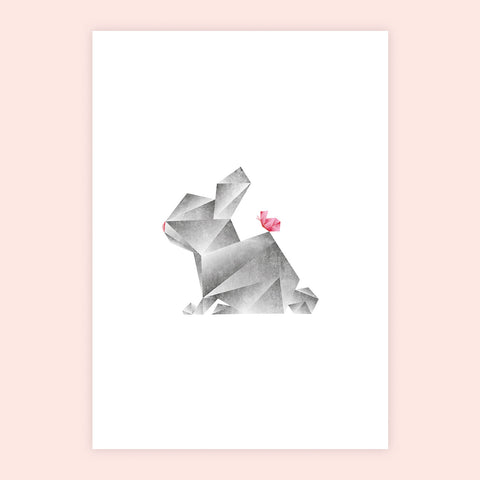 Geometric Rabbit Print