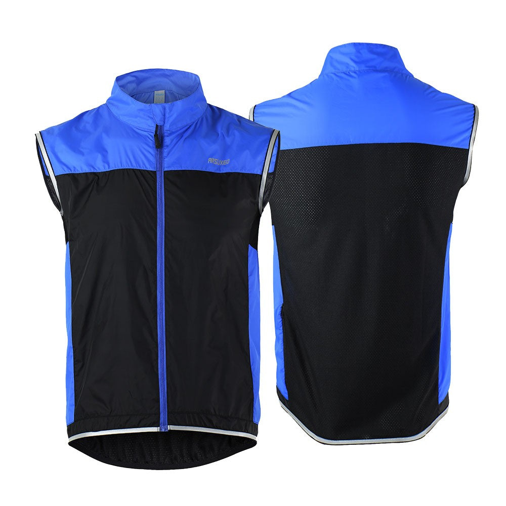 762fee558d053a ARSUXEO Men s Ultrathin Lightweight Sleeveless Coat Jacket Running Cycling  Bicycle Vest Windproof