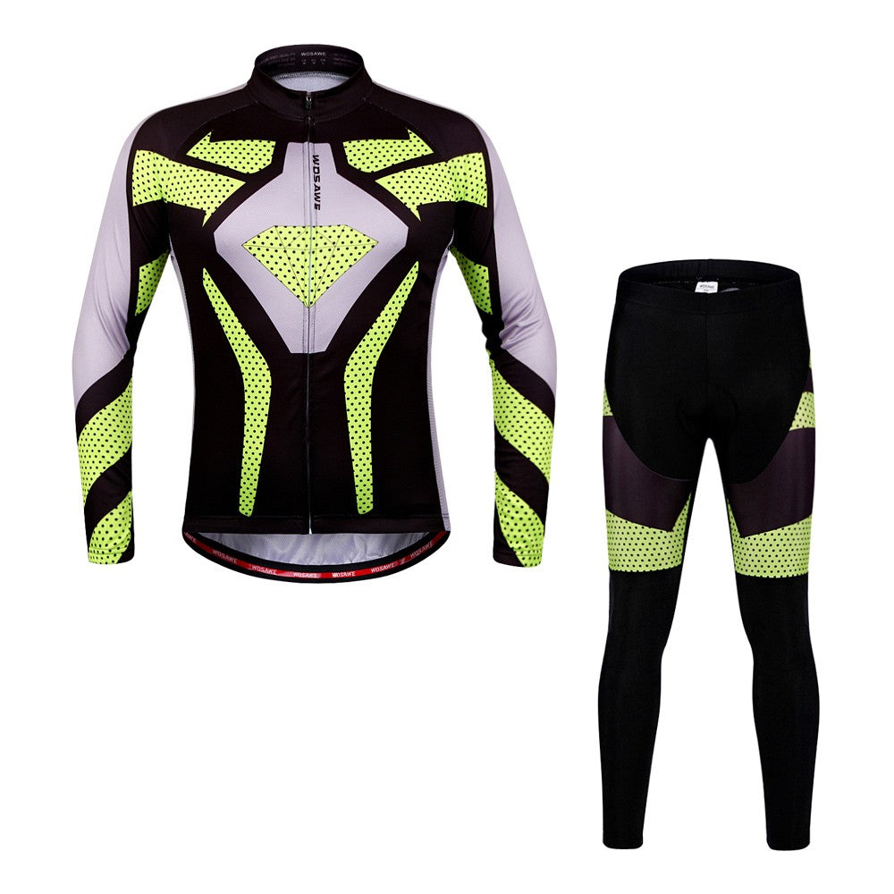 c8226b543 Quick Dry Breathable Men Long Sleeve Cycling Jersey Set for Outdoor Sports