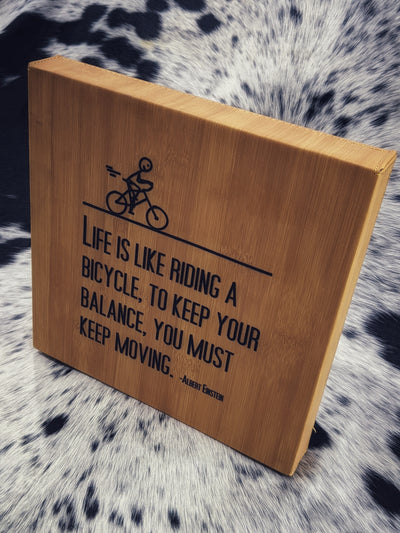 "Life is Like Riding a Bike 10"" x 10"" Frame"