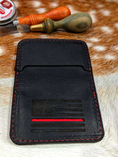Fireman Red Leather Wallet