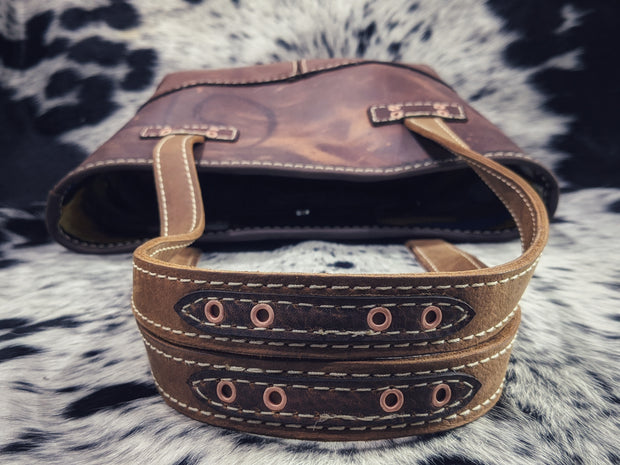 """Kristi Aspen Aztec"" Leather Purse"