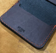 """Big Dan"" Leather Wallet - Color: Brown Leather with Custom Logo"