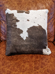 "Cowhide Pillow 18"" by 18"""