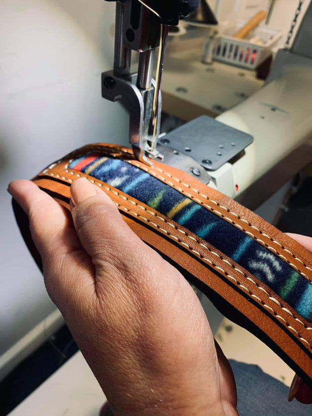 Aztec Dimensional - Personalized Leather Guitar Strap