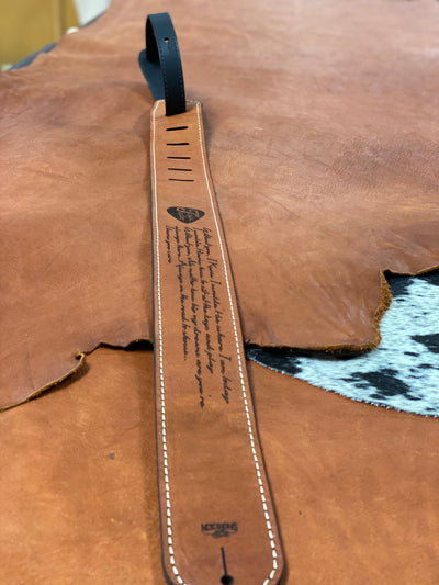 Lyrics - Personalized Leather Guitar Strap