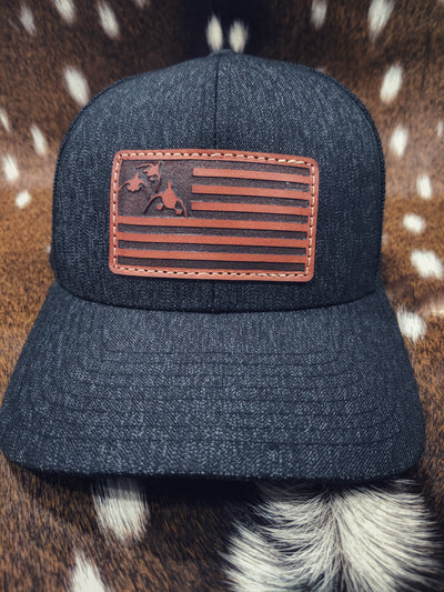 Three Ducks Leather Patch Hat