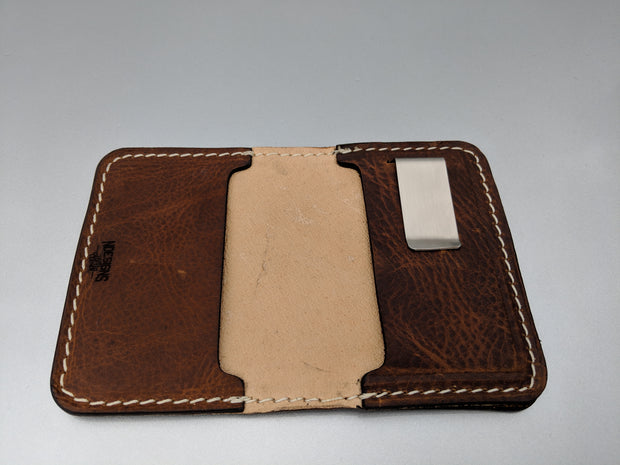 Bowfishing Lever Bow Leather Wallet