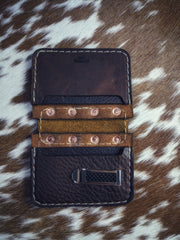 """Big Dan"" Copper Rivet Center Leather Wallet"