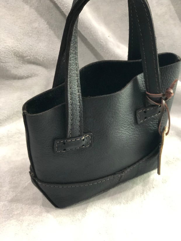 Little Mia Leather Purse - Black Leather