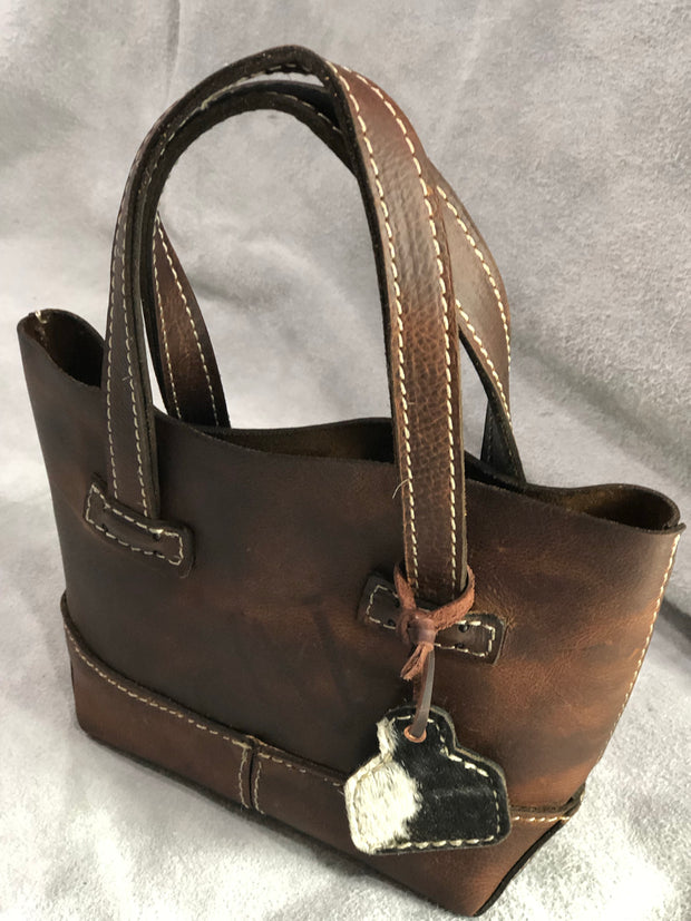 Little Mia Leather Purse - Brown Leather