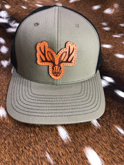 Jackalope Leather Patch Hat