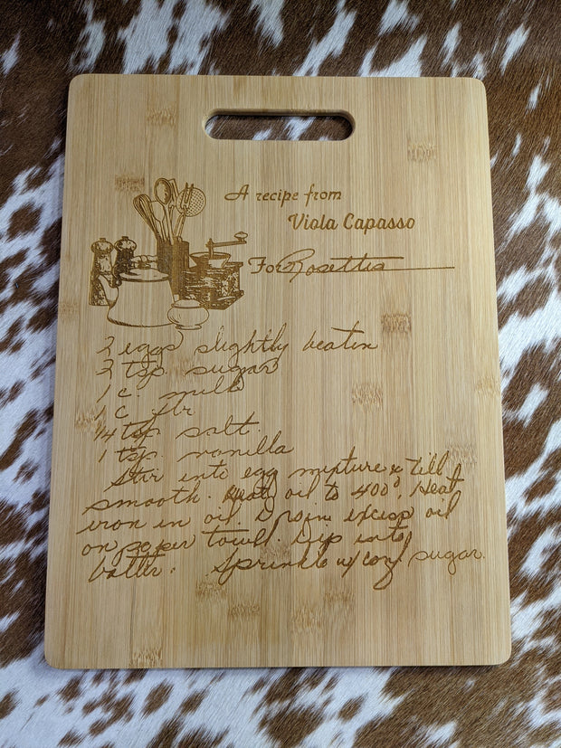Custom Recipe Cutting Board
