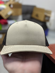 Richardson 112/ Fitted/Beanies Over Stock Jeff Special - w/ Leather Logo