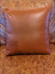 "All Leather Pillow 18"" x 18"""