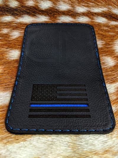 Thin Blue Line Leather Wallet