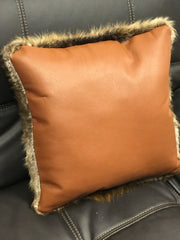 "Natural Beaver Pillow 18"" x 18"""
