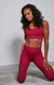 Seamless cranberry fitness set pre-order