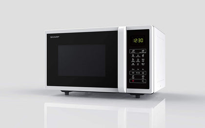 Sharp 25 Liters Solo Microwave, White - R-25CT-W