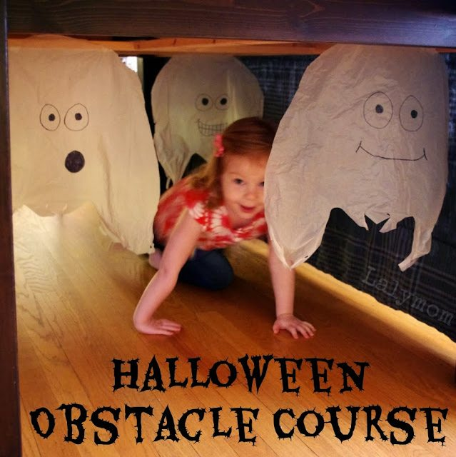 Easy Indoor Halloween Obstacle Courses for Kids