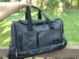 Roll out of town with Solo's Leroy Rolling Duffel