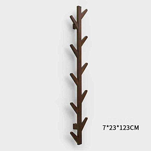LANGMANZHUYI Bamboo wooden clothes rack,Clothes rack,Hook hanging wall hanger hanger wood wall home-it clothes drying rack-A