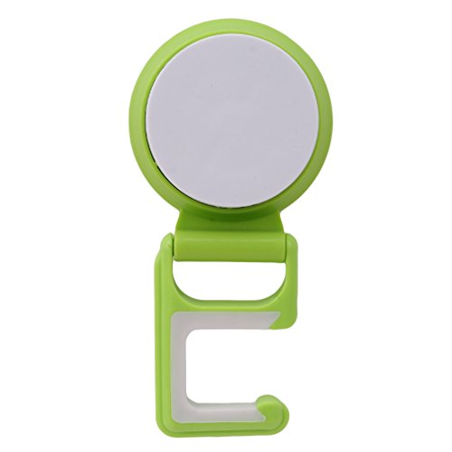 SOURBAN Suction Mop Broom Holder Wall Mounted House Organizer Storage Hanger 1PCS,green