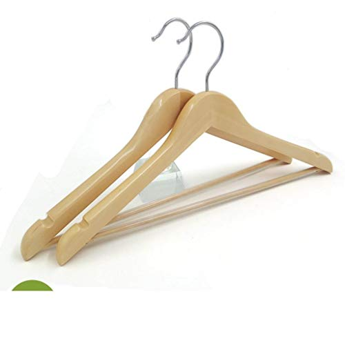 LE Solid Wood Hanger,Clothes Hanger Wooden Clothing Store Clothes Hanger Household Clothes Hanging Clothes Shelf H