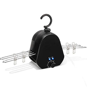 Walmeck Mini Portable Hang Dryer Clothes Hanger Shoes Dryer with HOT and Cold Drying Technology Ultraviolet Ray Deodorization Sterilization Fast Dryer for Traveling Outdoor