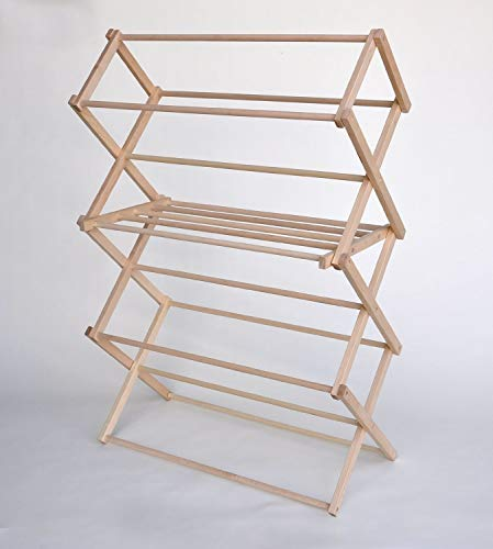 Large Wooden Clothes Drying Rack by Benson Wood Products