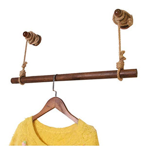 LAXF-Wall Coat Racks with Hooks/Wooden Wall Mounted Bathroom & Bedroom Hanging Towel Bar/Clothing Rod ?Heavy Duty Drying Rack/Wall Clothing Rack System/Closet Storage Organizer (Size : 80cm)