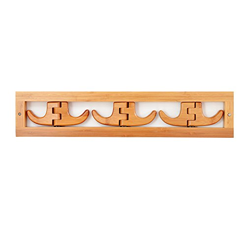 SUNSHINE Wall Coat Rack Bedroom Porch Clothing / Bag Tissue Storage Rack Bamboo Wood ( Size : 53cm )