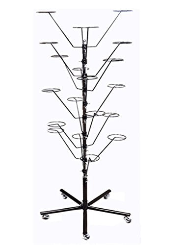 10 Layers Revolving Hat Floor Rack Hanger Retail Store Display Clothes Hang-BLK