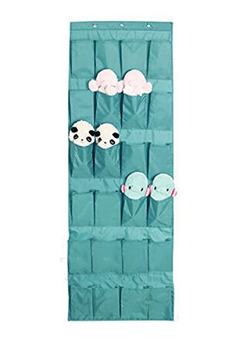JINTN 24 Pockets Shoe Organizer Over the Door Wall Mounted Hanging Storage Bags Tidy Closet Home Bedroom Space Saver Caddy Organiser Rack Shelf Holders Household Wardrobe Accessory