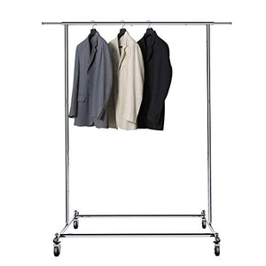 BigRoof Clothing Rack, 6.3FT Heavy Duty Clothes Rack Free Standing Garment Rack On Wheels Commercial Portable Closet Jacket Coat Rack Rolling Drying Racks For Hanging Drying Clothes