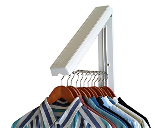 InstaHanger Closet Organizer, The Original Folding Drying Rack, Wall Mount - 2 Pack