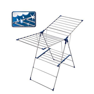 Leifheit Roma 150 Tripod Clothes Drying Rack, Silver/Blue
