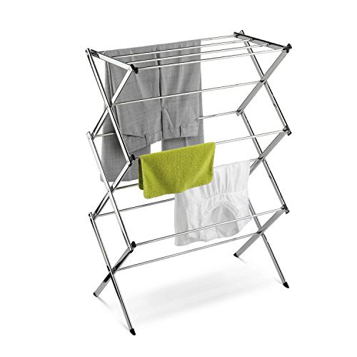 Honey-Can-Do Commercial Accordion Drying Rack, Chrome