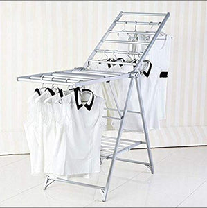 LE Stainless Steel Clothes Drying Rack,Drying Rack Landing Folding airfoil Hanger Aluminum Indoor Drying Racks A