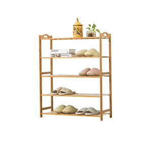 Shoe rack Feifei 5-Tier Natural Bamboo Wooden Shelf Holder Storage Organizer (Size : 802690cm)