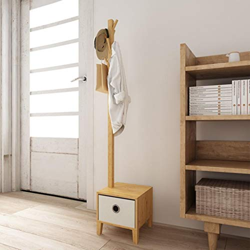 LE Bedroom Bedside Landing Hanger Racks,Creative Living Room Bamboo Solid Wood Coat Hanger Hall Clothes Rack A