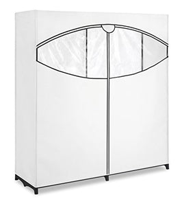 "Whitmor Extra-Wide Clothes Closet 60"" with White Cover - 6822-167-B"