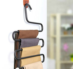 Curved Shapes 5 Layers Clothes Rack Drying Holder Towels Belt Hanger