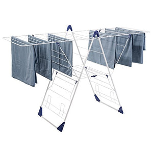 Drynatural Drying Rack Folding Extra Large Gull Wing Cloth Airer with 85ft Drying Space for Outdoor Indoor